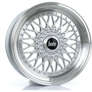 Cerchi in lega  BOLA  TX09  18''  Width 9,5   4x100  ET 35 to 45  CB 76    Silver Polished Lip