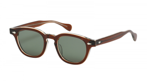 Julius Tart Optical , AR Brown crystal / Solid light green