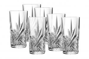 Set di 6 bicchieri long drink in vetro trasparente 38 cl Broadway