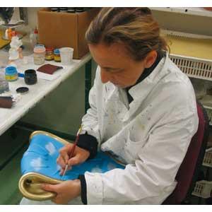 Orologio da muro portafoto e specchio in resina decorata a mano