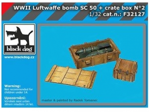 WWII Luftwaffe Bomb SC 50 + Crate Box No.2