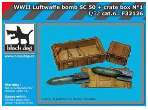 WWII Luftwaffe Bomb SS 50 + Crate Box No.1