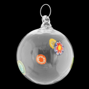 Palla di natale vetro Murano cristallo e murrine colorate