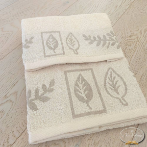 Asciugamani foglie in lino