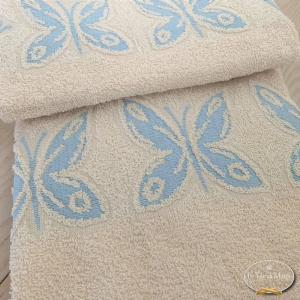 Asciugamani farfalle azzurre