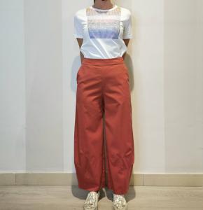 Pantalone largo color coccio