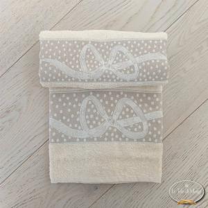 Asciugamani fiocchi panna