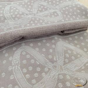 Asciugamani fiocchi tortora