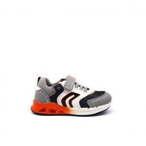 Sneaker grigia/arancio Geox