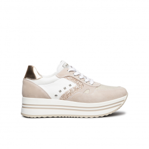 Sneaker platform cipria NeroGiardini