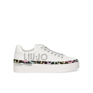 Sneaker bianca/animalier Liu Jo