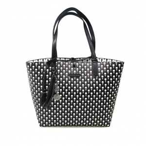 Shopper fantasia pois reversibile PashBag
