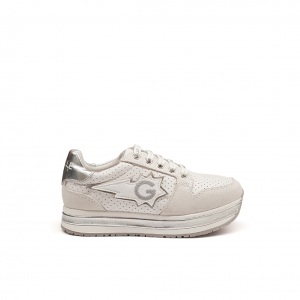 Sneaker plarform bianca Gaelle Paris