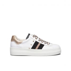 Sneaker bianca con banda NeroGiardini