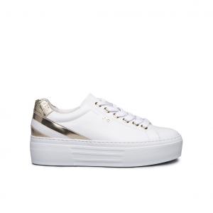 Sneaker platform bianca/platino NeroGiardini