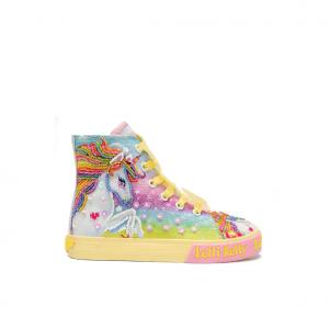 Sneaker alta fantasia unicorno/giallo Lelli Kelly