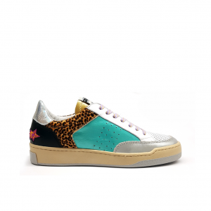 Sneaker patchwork multicolor Mèlinè