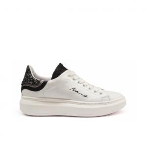 Sneaker bianca/nera Mèlinè