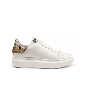 Sneaker bianca/platino Mèlinè