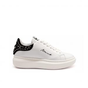 Sneaker bianca/nera con studs Mèlinè