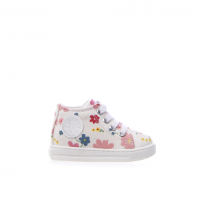 Sneaker bianca/floreale Falcotto