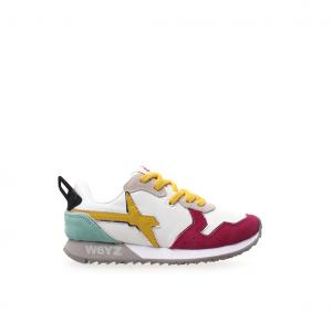 Sneaker bianca/fuxia/giallo W6YZ