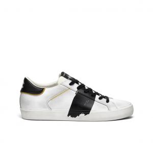 Sneaker bianca con pennellata Crime London
