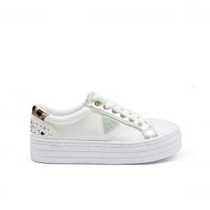 Sneaker bianca con para alta Guess