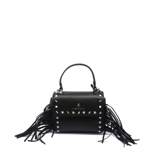 Minibag nera con frange PashBag