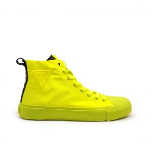 Sneaker alta giallo fluo Guess