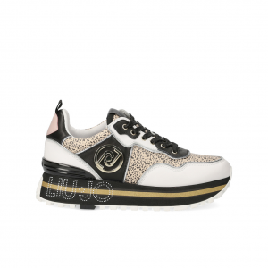 Sneaker platform bianco/nera Liu Jo