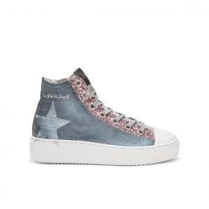 Sneaker alta azzurra NiRa Rubens