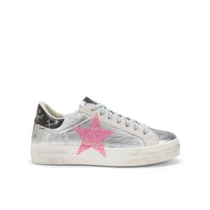Sneaker argento/fuxia NiRa Rubens