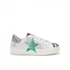 Sneaker argento/menta NiRa Rubens