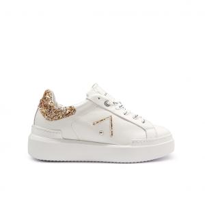 Sneaker bianca/platino Ed Parrish