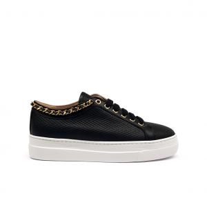 Sneaker nera con profilo catena Stokton