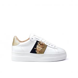 Sneaker bianca con gufo Stokton