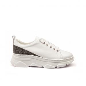 Chunky sneaker bianco/argento Stokton