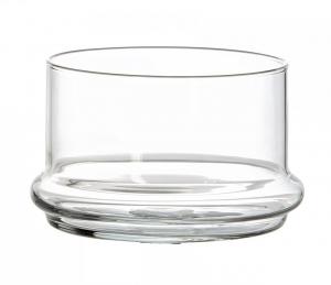 Piattino alto in vetro trasparente cm.7,2h diam.10,3