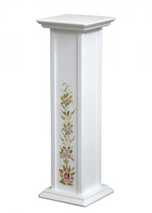 Pedestal decorado para macetas - 80 cm