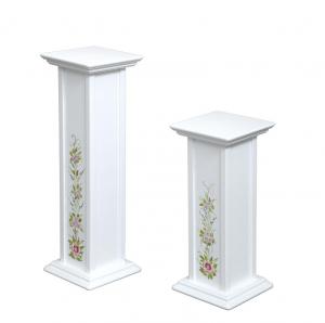 Pedestales decorados para macetas - pareja 60 y 80 cm