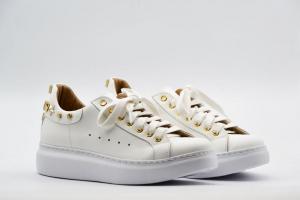 NOVITA' P/E 2021 Crown Calzatura Donna-Alex.Quadri Bianco/Oro