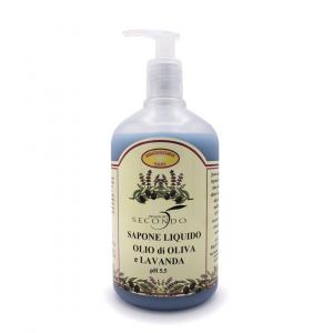 Sapone liquido all'olio di oliva e lavanda ml 500