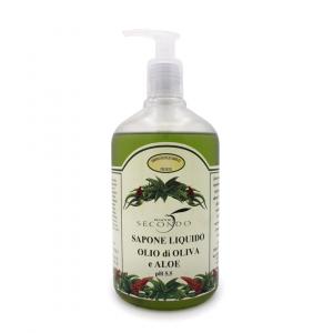 Sapone liquido all'olio di oliva e aloe ml 500