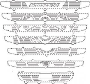 SCANIA Mascherina disegno Pistone (per paraurti alto con sensore)