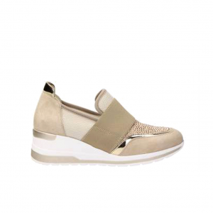 Sneaker beige con fascia Melluso