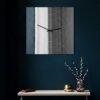 Orologio da parete Narciso specchio quadrato a muro nero 50x50