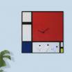 Orologio da parete collezione arte Mondrian 50x50 made in Italy