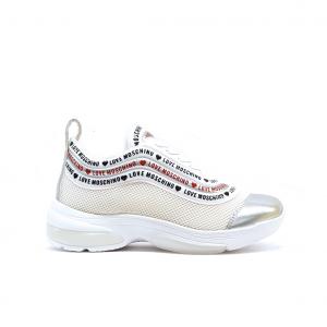 Chunky sneaker bianca/argento Love Moschino