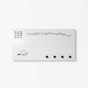Organizer portalettere da parete MiniKrok 40x20 cm con 3 magneti